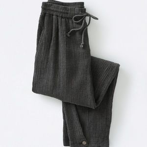 Poetry Crinkled Linen Trousers/Pants